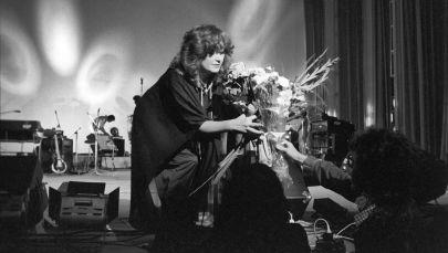 Заслуженная артистка РСФСР, певица Алла Пугачева на концерте, который прошел в Москве в рамках открытия Олимпиады-80.