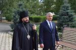 Архиепископ Владикавказский и Аланский Леонид и Глава Северной Осетии Вячеслав Битаров