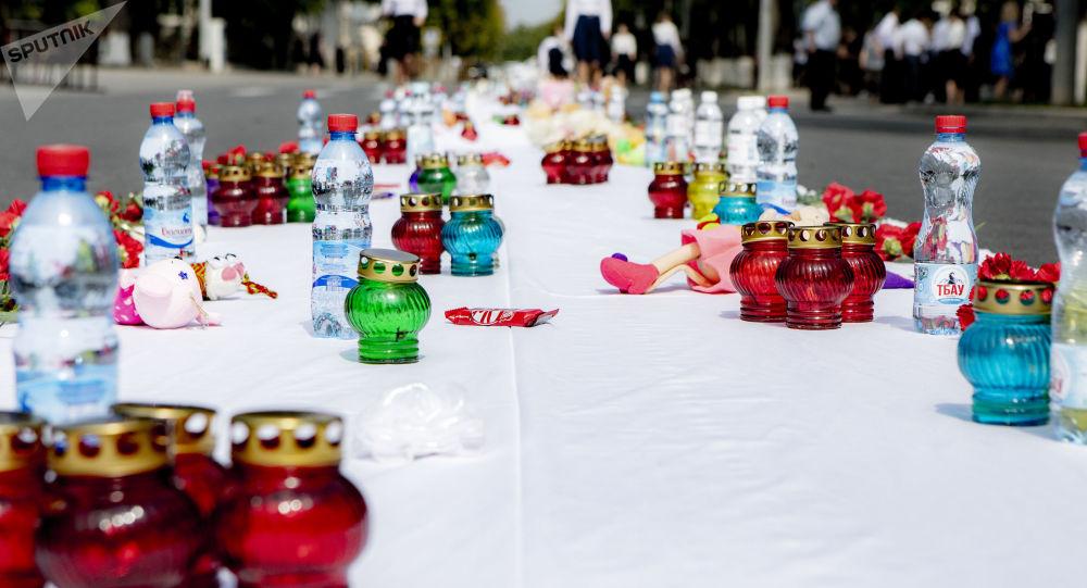Траурные мероприятия в Цхинвале в память о Бесланской трагедии