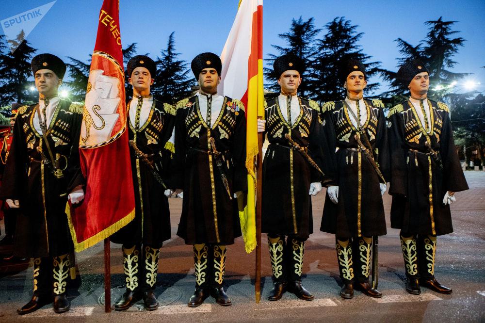 Почетный караул на генеральной репетиции Парада