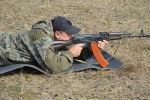 Между командами ОМОН прошли соревнования по стрельбе из автомата Калашникова
