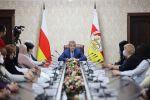 Встреча президента Анатолия Бибилова с многодетными матерями