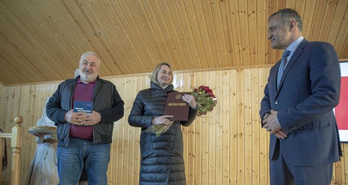 Открытие дома-музея Васо Абаева в Цхинвале