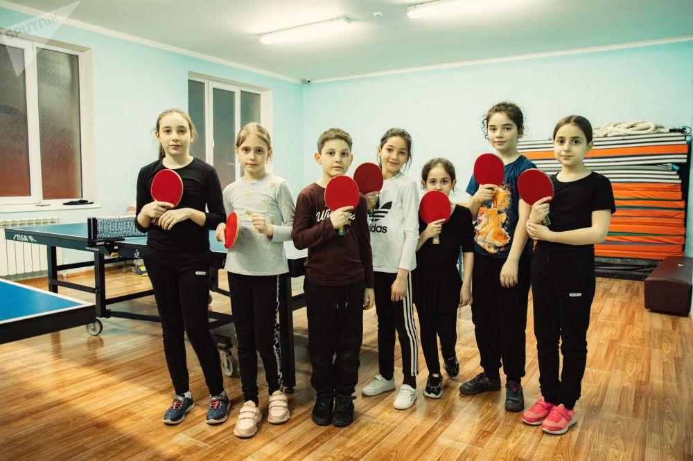 Занятия по настольному теннису в Южной Осетии