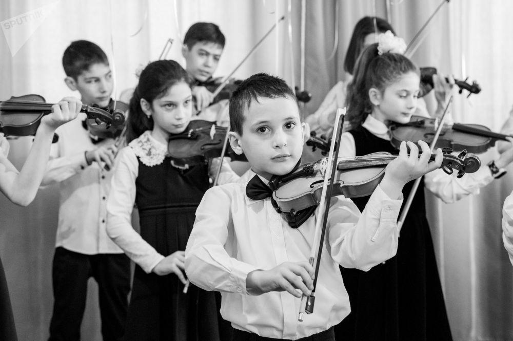 Отчетный концерт в цхинвальской музыкальной школе