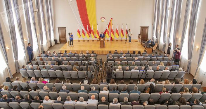 Послание президента Южной Осетии Анатолия Бибилова к народу и парламенту