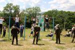 Юноши-абитуриенты военных вузов Минобороны РФ сдают нормативы по физподготовке