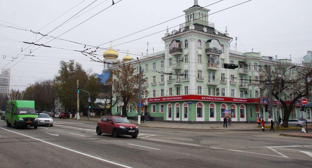 Улица Советская в Луганске.