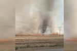 В Башкирии сняли на видео огненное торнадо