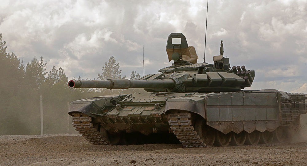 Боевые стрельбы танкистов российской военной базы в Южной Осетии