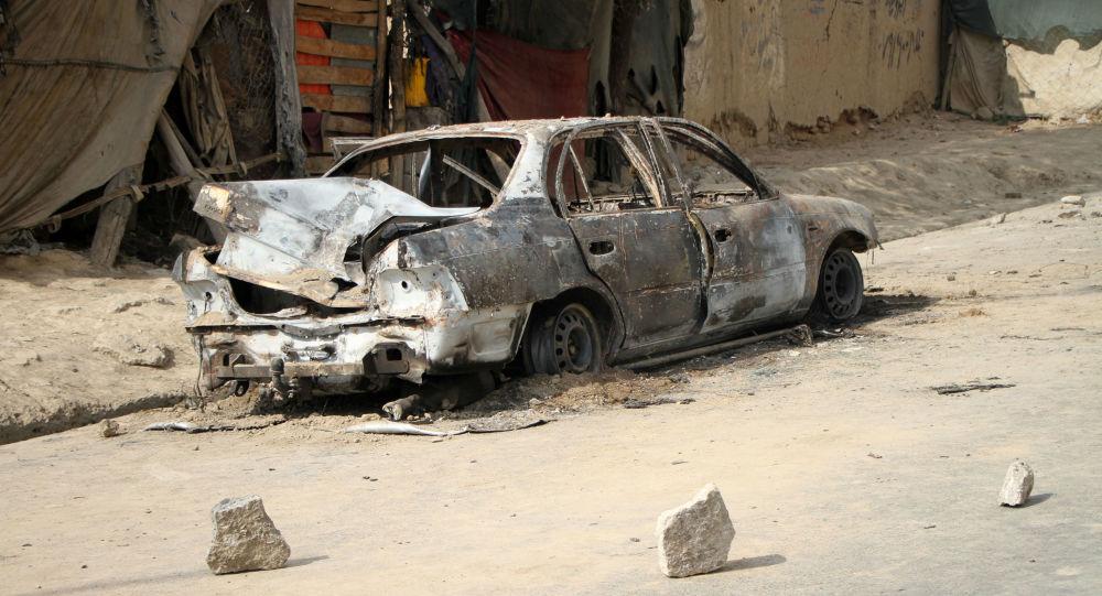 На улице Кабула после ракетного обстрела