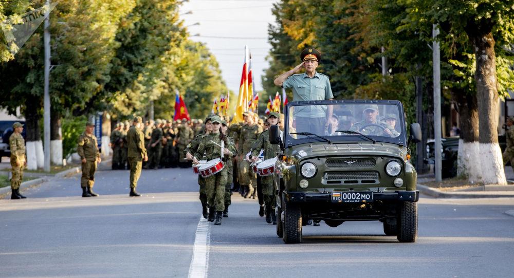 Репетиция Парада ко дню Республики