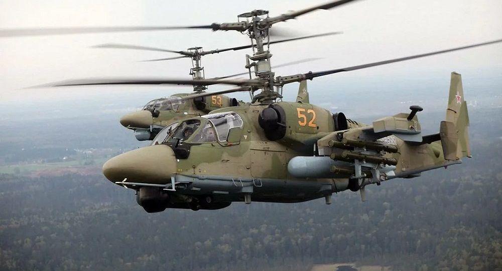 Аллигаторы Ка-52 обеспечили авиационную поддержку мотострелкам ЮВО на учении в горах Южной Осетии