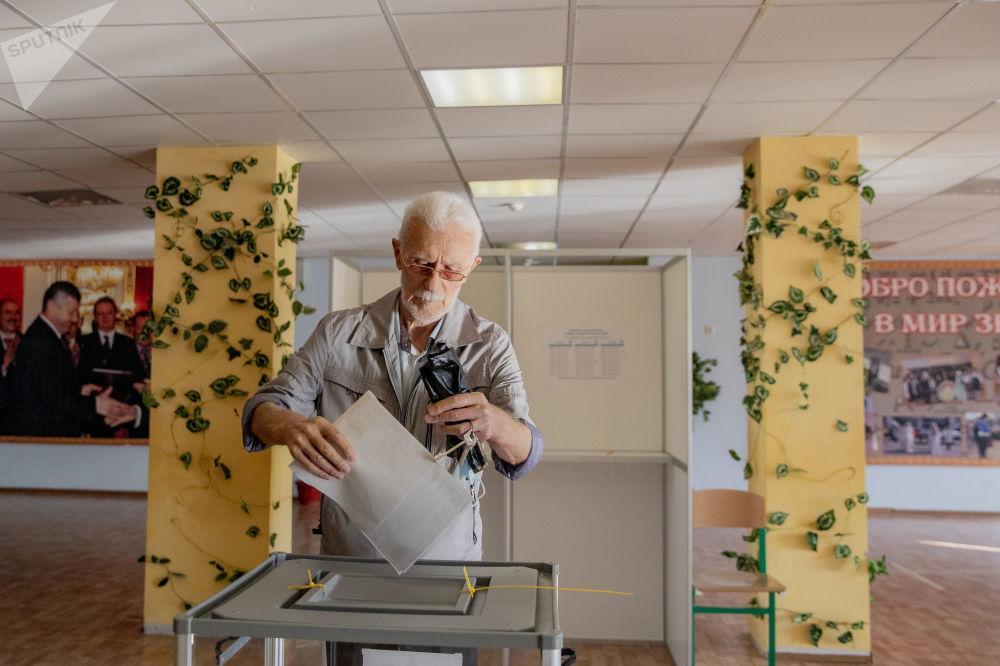 Голосование по выборам в Госдуму РФ в Южной Осетии