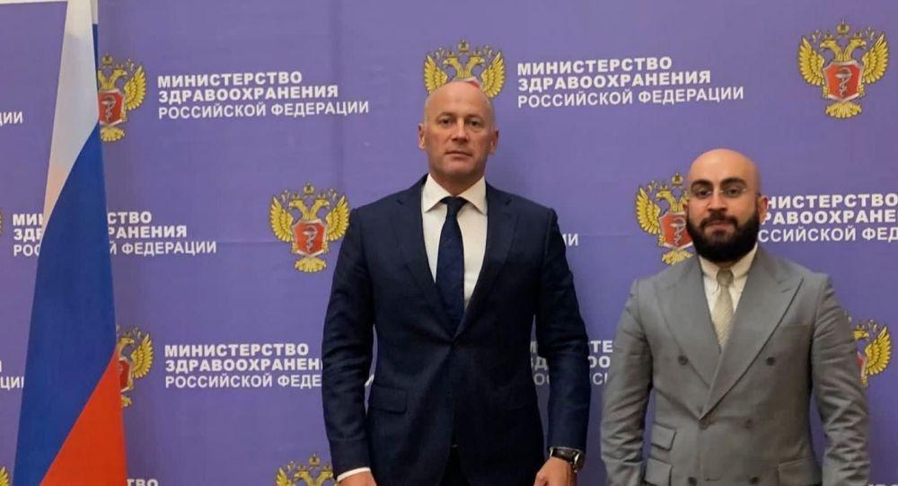 Встреча Сослана Наниева и Виктора Фисенко