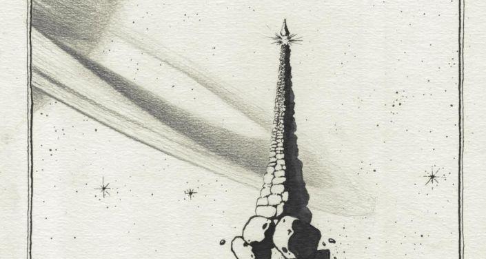 Серия иллюстраций Ростана Тавасиева Осетинская фантастика
