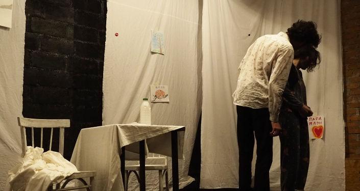 Спектакль На грани по пьесе Хетага Дарчиева