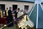Освящение и установка куполов на строящийся храм Архистратига Михаила в Северной Осетии