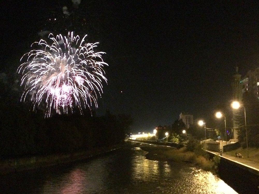 Завершающий этап Дня республики и города — праздничный салют