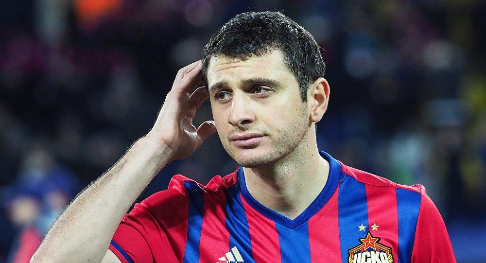 Игрок ЦСКА Алан Дзагоев