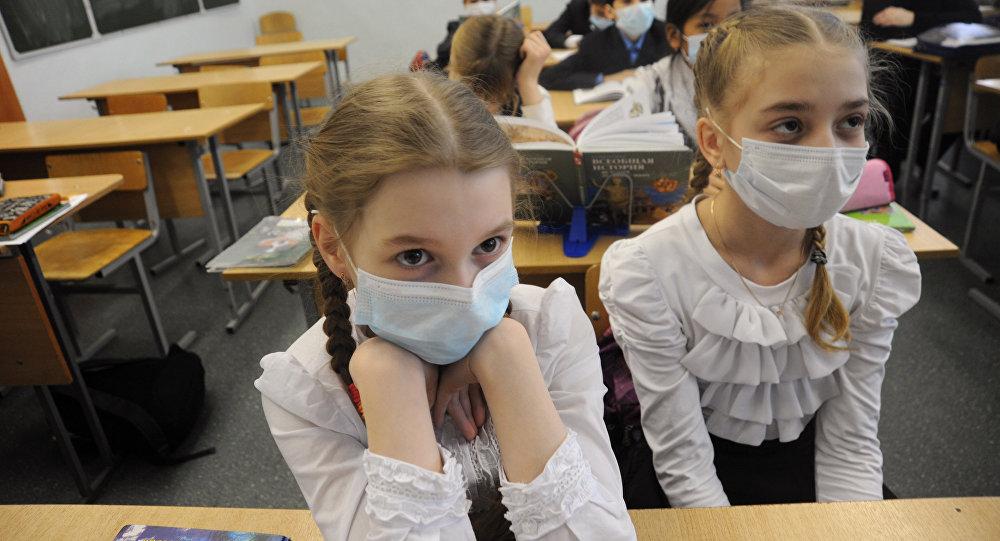 Ученики во время занятий.