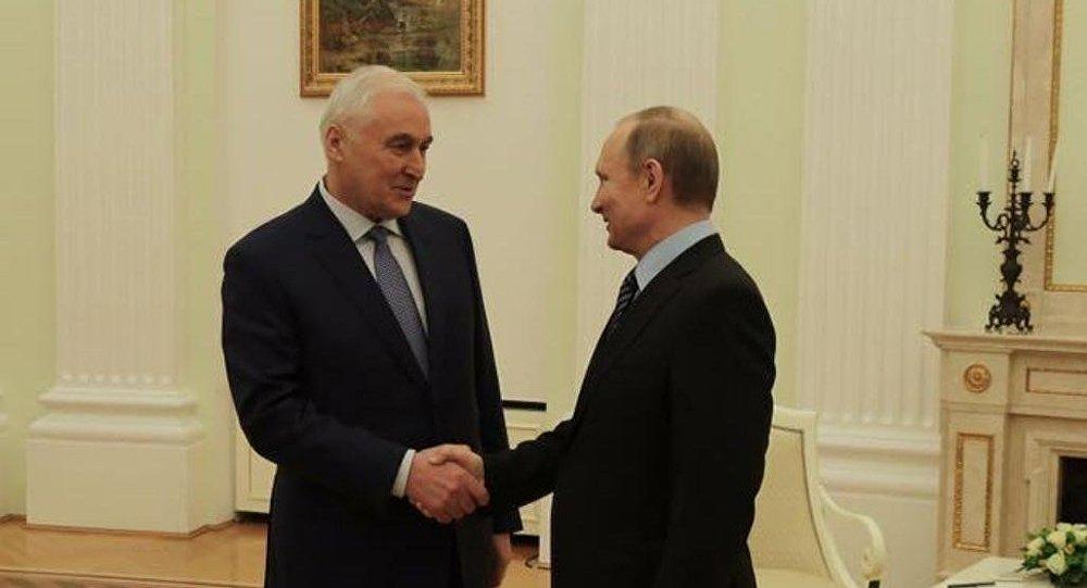 Встреча президента РЮО Леонида Тибилова с президентом РФ Владимиром Путиным