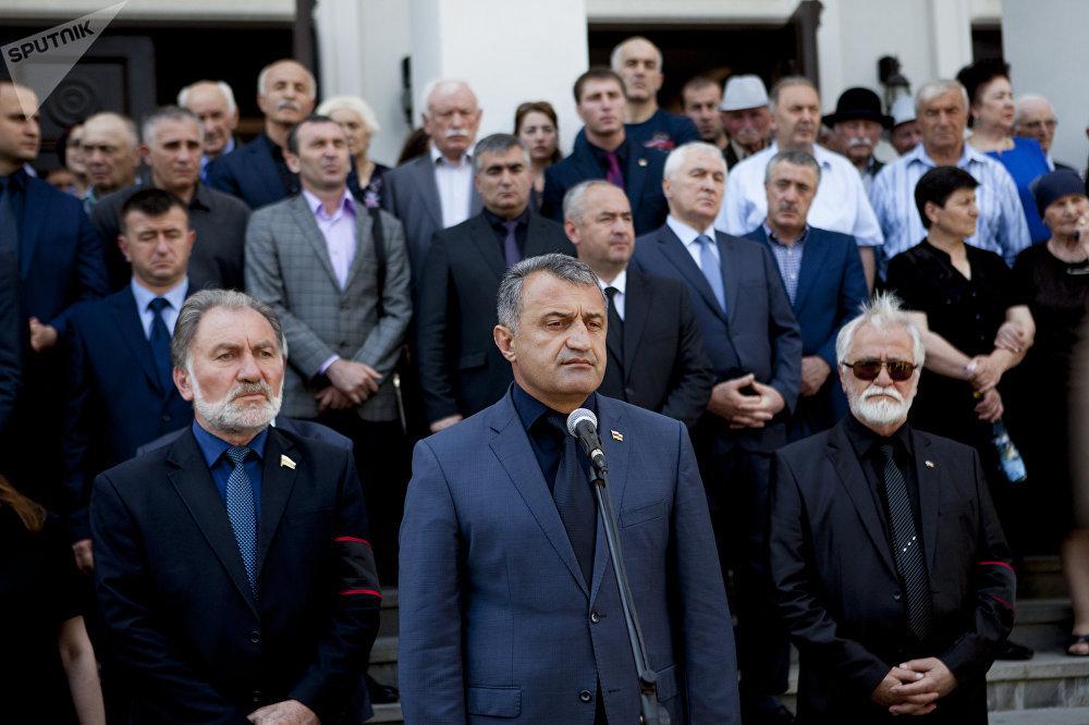 На похоронах Нафи Джусойты