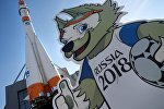 Фигура талисмана чемпионата мира по футболу 2018 в России волка Забиваки