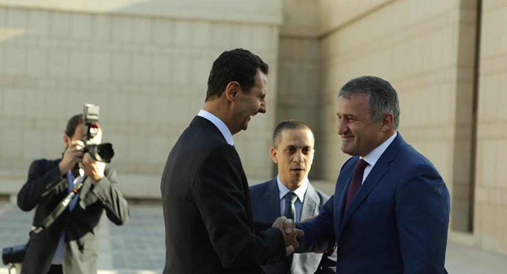 Встреча президентов Южной Осетии и Сирии