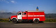 Лесной пожар в Южной Осетии