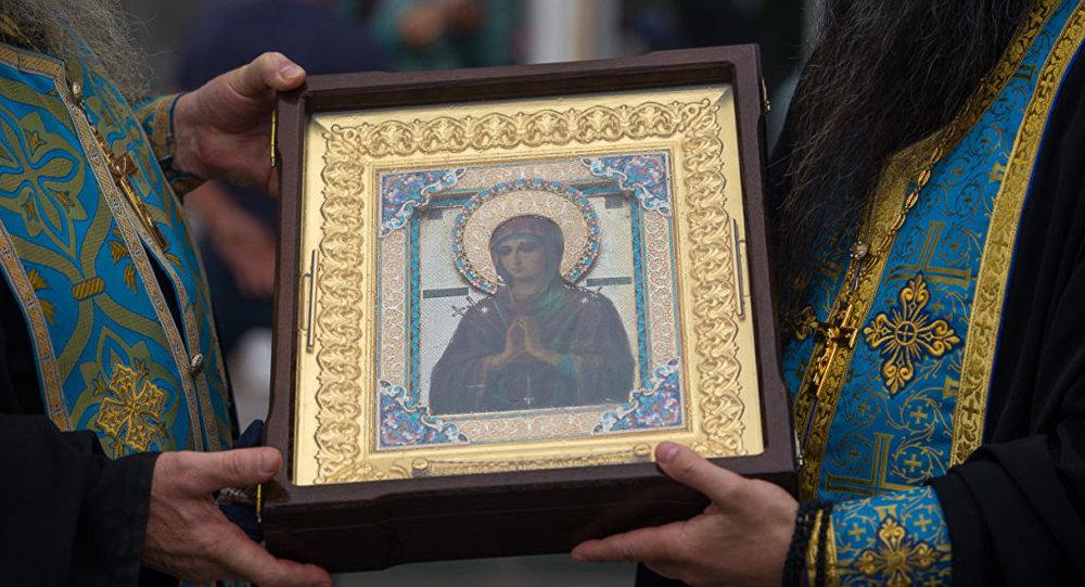 Икона Божией Матери Умягчение Злых Сердец (Семистрельная) прибыла в Северную Осетию