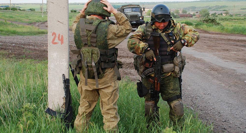 Батальонная разведка ополчения ДНР в районе поселка Широкино