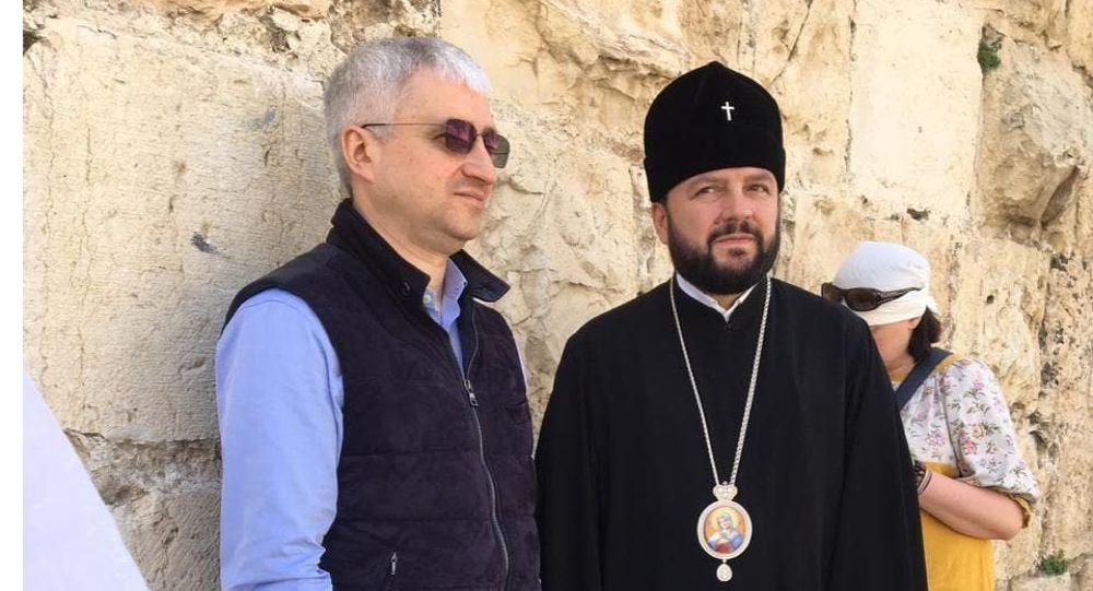 Архиеписком Леонид и Зураб Макиев