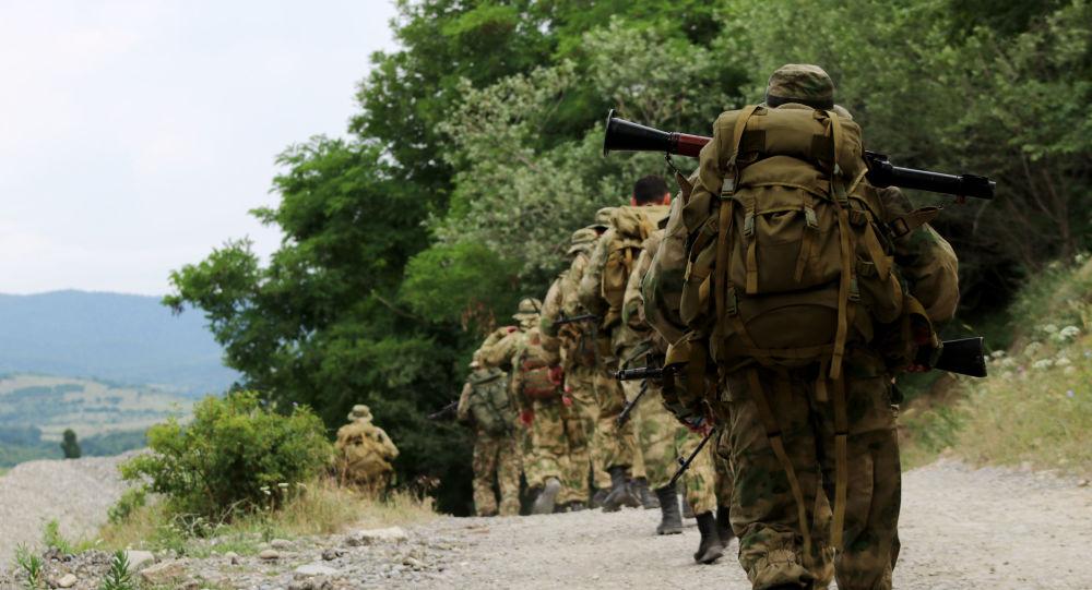 Бойцы спецназа Южной Осетии