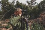Сотрудник Погранслужбы КГБ Южной Осетии на посту у села Цнелис