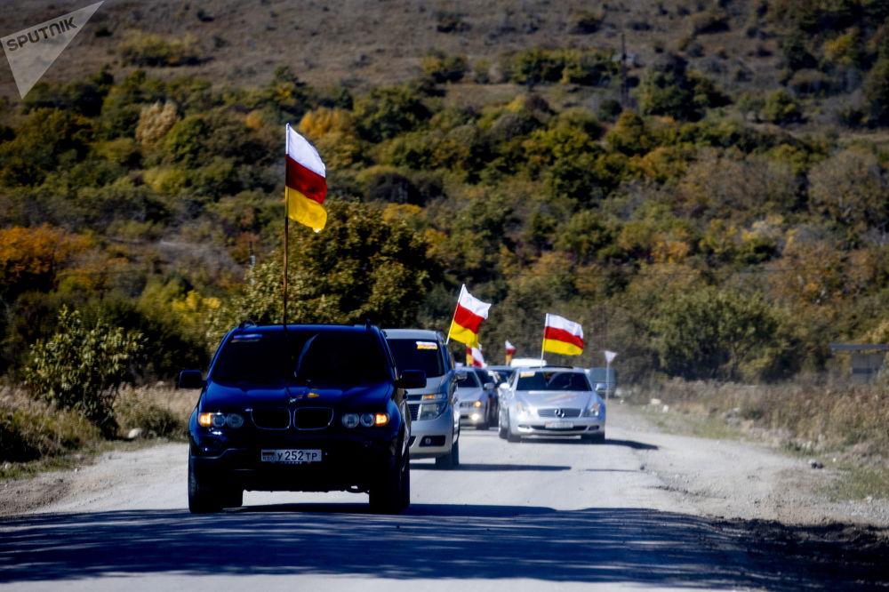 Автопробег в честь Дня осетинского флага