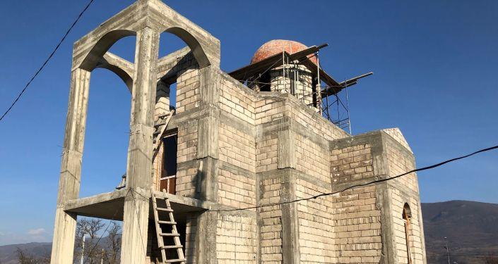 Строительство православного храма в Цхинвале