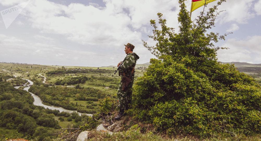 Российские пограничники на страже границ Южной Осетии