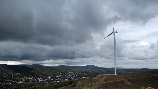 Открытие ветровой электростанции в Карпатах - Sputnik Южная Осетия