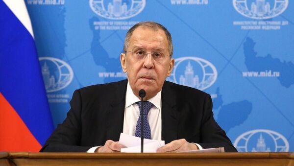 Пресс-конференция главы МИД РФ С. Лаврова - Sputnik Южная Осетия