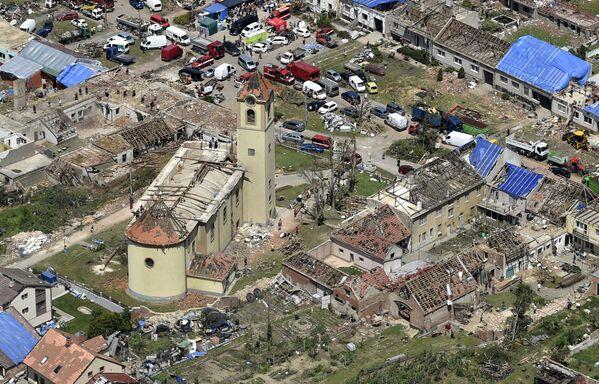Вид с воздуха на деревню Моравска-Нова-Вес, Чешская Республика - Sputnik Южная Осетия