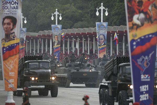 Военная техника на параде в честь Дня независимости Венесуэлы в Каракасе  - Sputnik Южная Осетия