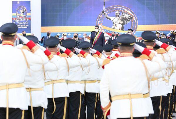 Президент Венесуэлы Николас Мадуро на военном параде в честь Дня независимости Венесуэлы в Каракасе  - Sputnik Южная Осетия