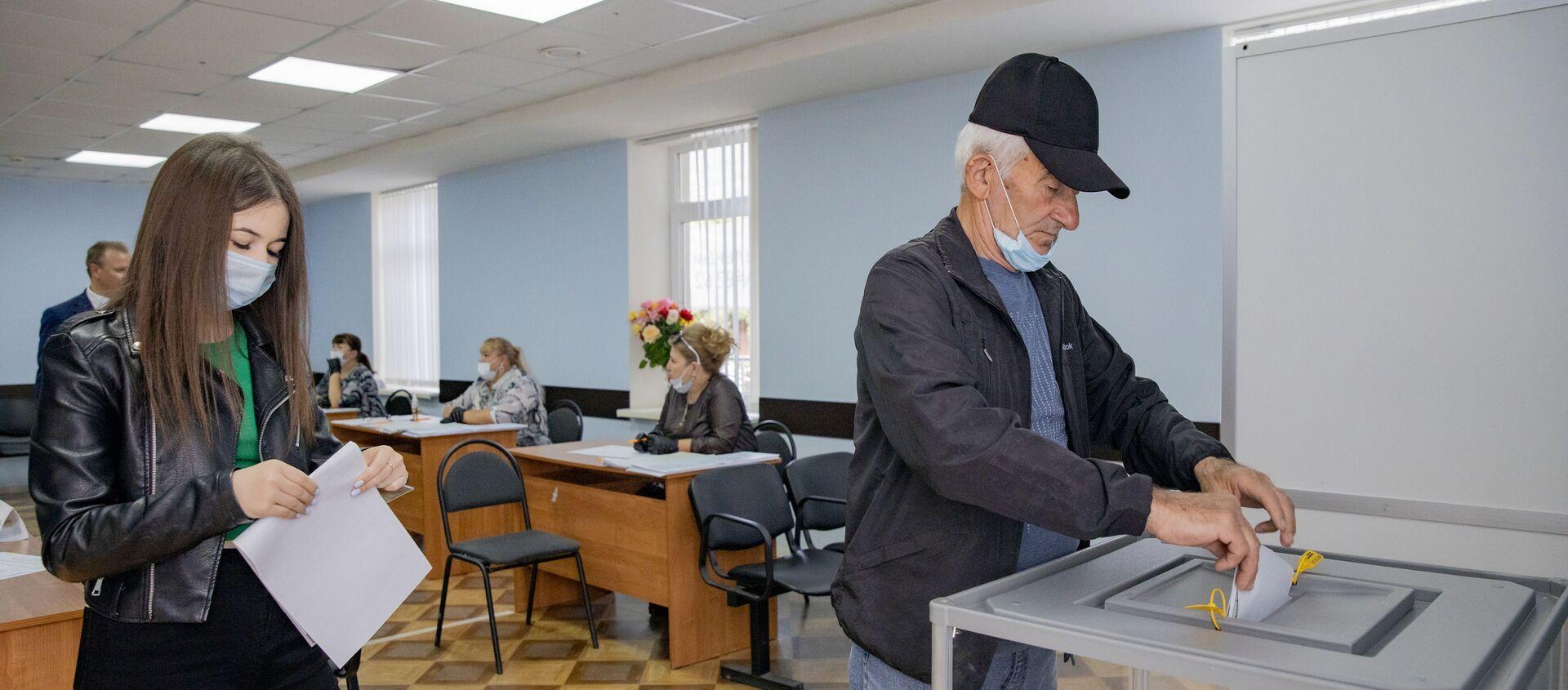 Голосование по выборам в Госдуму РФ в Южной Осетии - Sputnik Южная Осетия, 1920, 22.09.2021