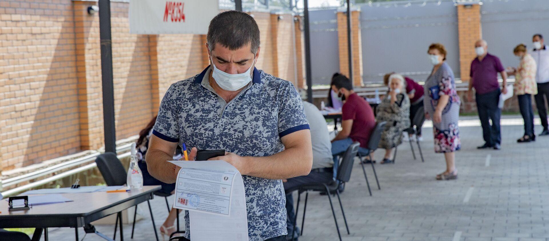 Голосование по выборам в Госдуму РФ в Южной Осетии - Sputnik Южная Осетия, 1920, 20.09.2021