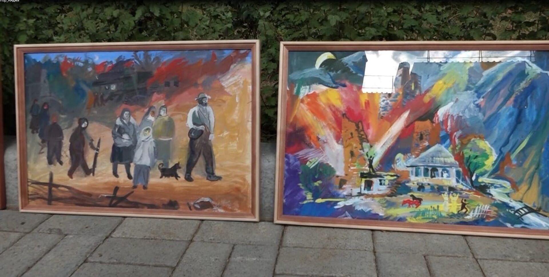 Юные художники из села Хетагурово представили свои работы в Ленингоре - Sputnik Южная Осетия, 1920, 26.10.2021