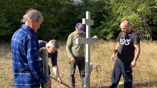 Строительство православной часовни в селении Гвиргвина - Sputnik Южная Осетия