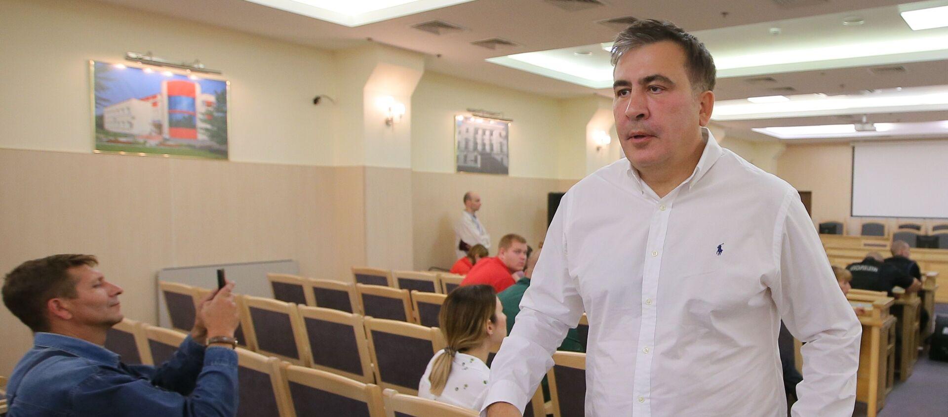 Экс-президент Грузии Михаил Саакашвили. Архивное фото  - Sputnik Южная Осетия, 1920, 04.10.2021
