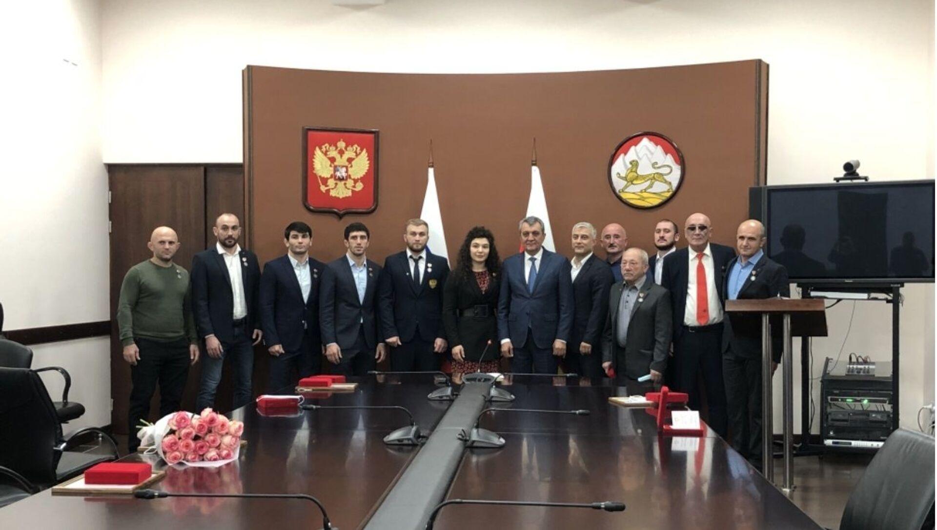 В Северной Осетии чествовали победителей и призеров Олимпийских и Паралимпийских игр в Токио - Sputnik Южная Осетия, 1920, 09.10.2021
