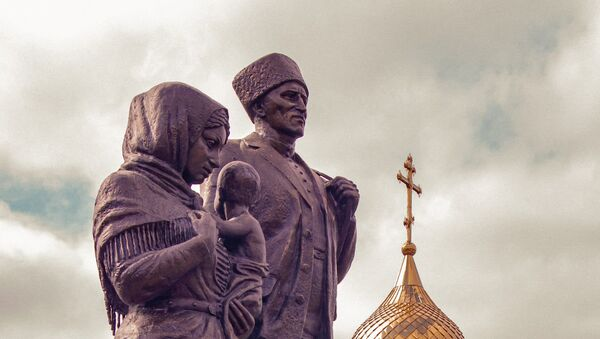 Памятник переселенцам из Южной Осетии в селе Ногир - Sputnik Южная Осетия